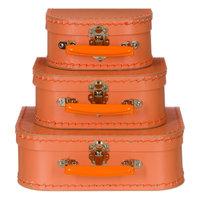 koffertje oranje pastel 20cm