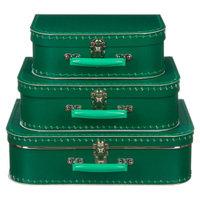 koffertje donker groen 20cm