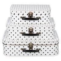 koffertje wit medium stip zwart 30cm