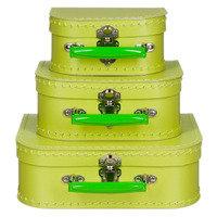 koffertje groen fel licht 20cm