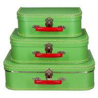 koffertje zacht groen 25cm