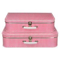 koffertje rood ruit vichy 40cm